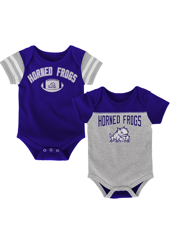 TCU Horned Frogs Baby Purple Vintage One Piece - Image 1