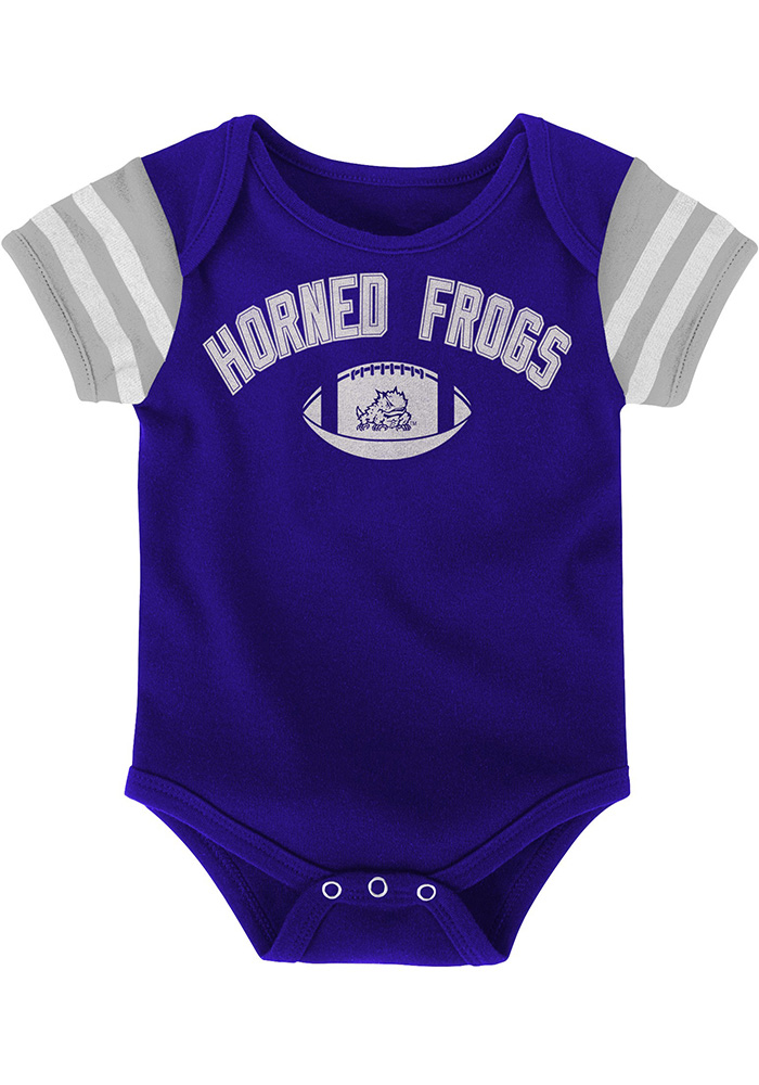 TCU Horned Frogs Baby Purple Vintage One Piece - Image 2