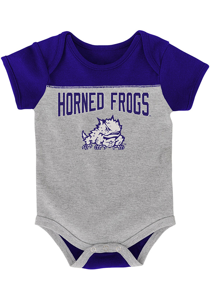 TCU Horned Frogs Baby Purple Vintage One Piece - Image 3
