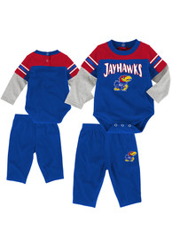 Kansas Jayhawks Infant Halfback Top and Bottom - Blue