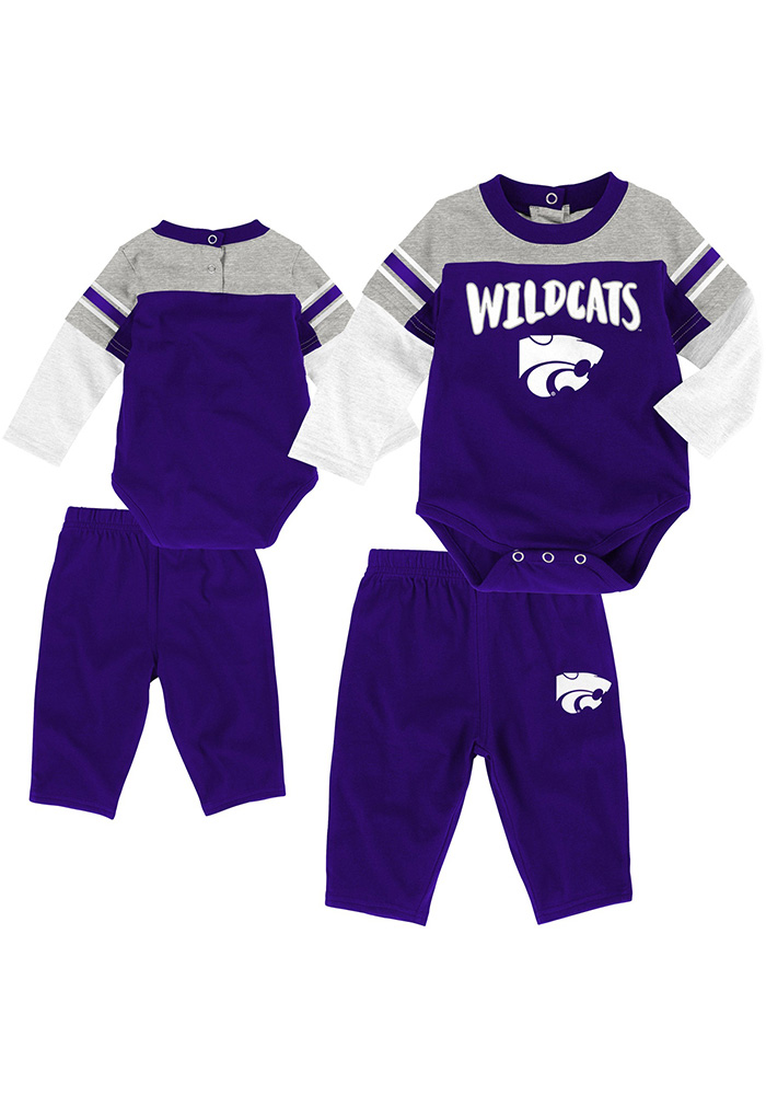 K-State Wildcats Infant Purple Halfback Set Top and Bottom - Image 1