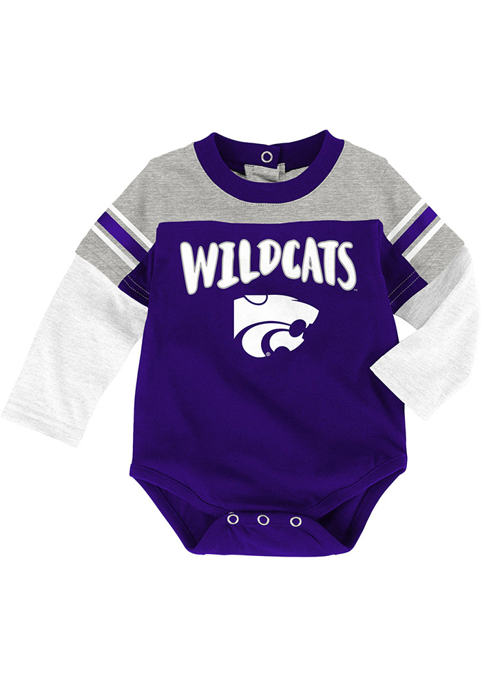 K-State Wildcats Infant Purple Halfback Set Top and Bottom - Image 2