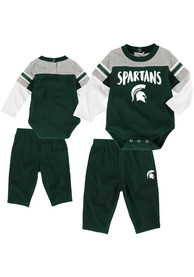 Michigan State Spartans Infant Halfback Top and Bottom - Green