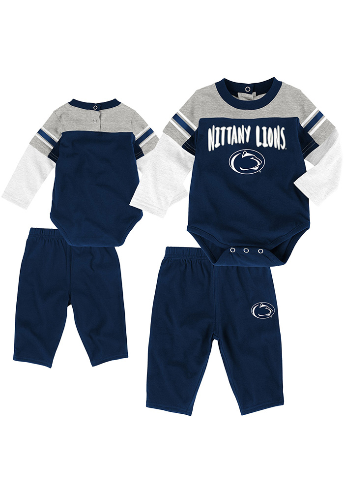 Penn State Nittany Lions Infant Navy Blue Halfback Set Top and Bottom - Image 1