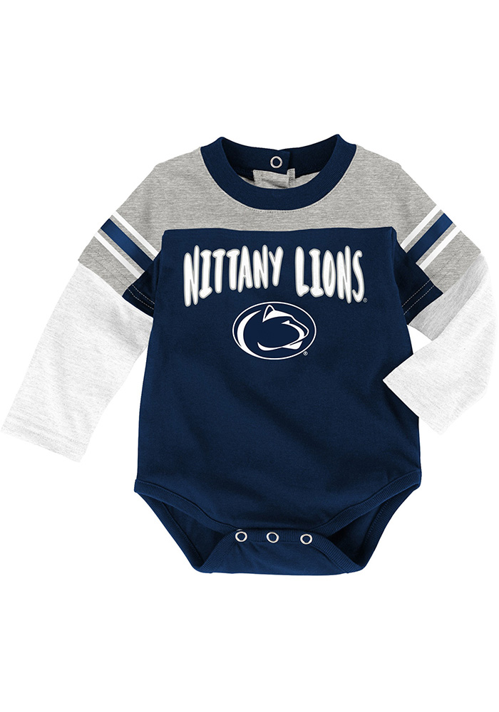 Penn State Nittany Lions Infant Navy Blue Halfback Set Top and Bottom - Image 2