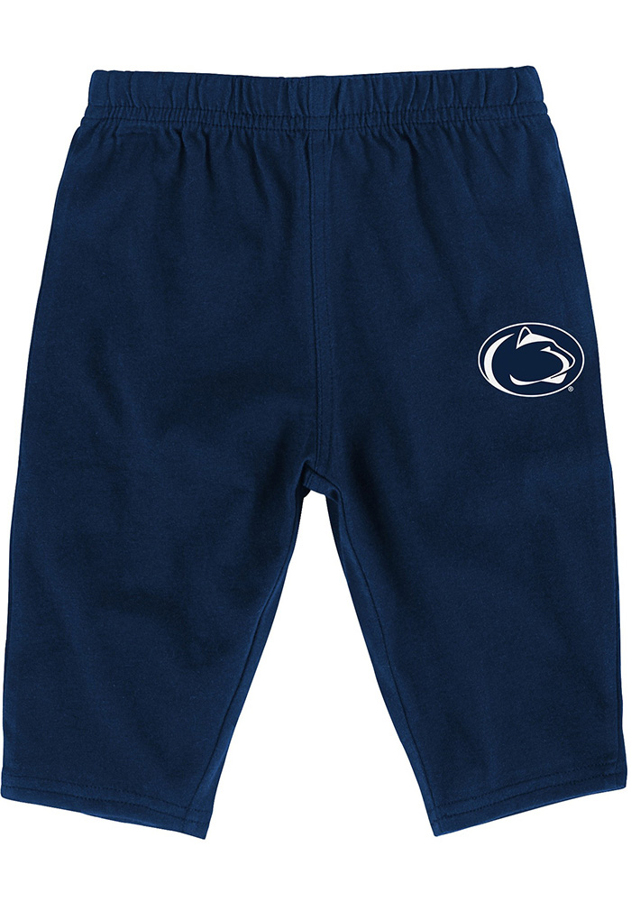 Penn State Nittany Lions Infant Navy Blue Halfback Set Top and Bottom - Image 4