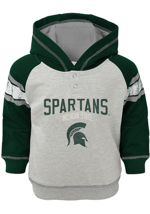 Michigan State Spartans Toddler Green Classic Stripe Hooded Sweatshirt