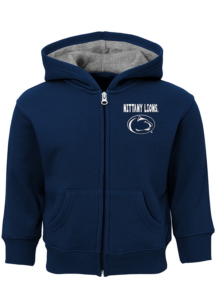 Penn State Nittany Lions Toddler Navy Blue Red Zone Long Sleeve Full Zip Jacket - Image 1
