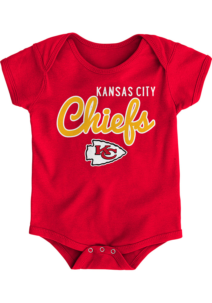 Kansas City Chiefs Baby Red Big Game Short Sleeve One Piece - Image 1