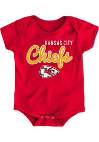 Kansas City Chiefs Baby Red Big Game One Piece