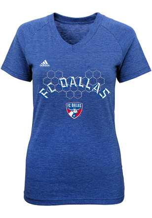 FC Dallas Girls Blue Floral Pitch T-Shirt