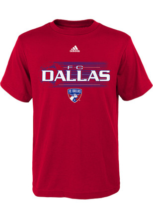 FC Dallas Kids Red Flying Ball T-Shirt