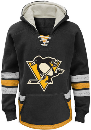 Pittsburgh Penguins Kids Black Retro Skate Hooded Sweatshirt