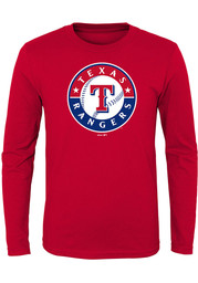 Texas Rangers Boys Red Primary T-Shirt