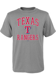 Texas Rangers Youth Grey #1 Design T-Shirt