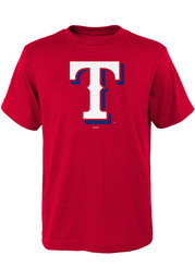 Texas Rangers Youth Red Secondary T-Shirt