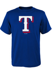 Texas Rangers Youth Blue Secondary T-Shirt