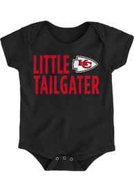 Kansas City Chiefs Baby Black Little Tailgater One Piece