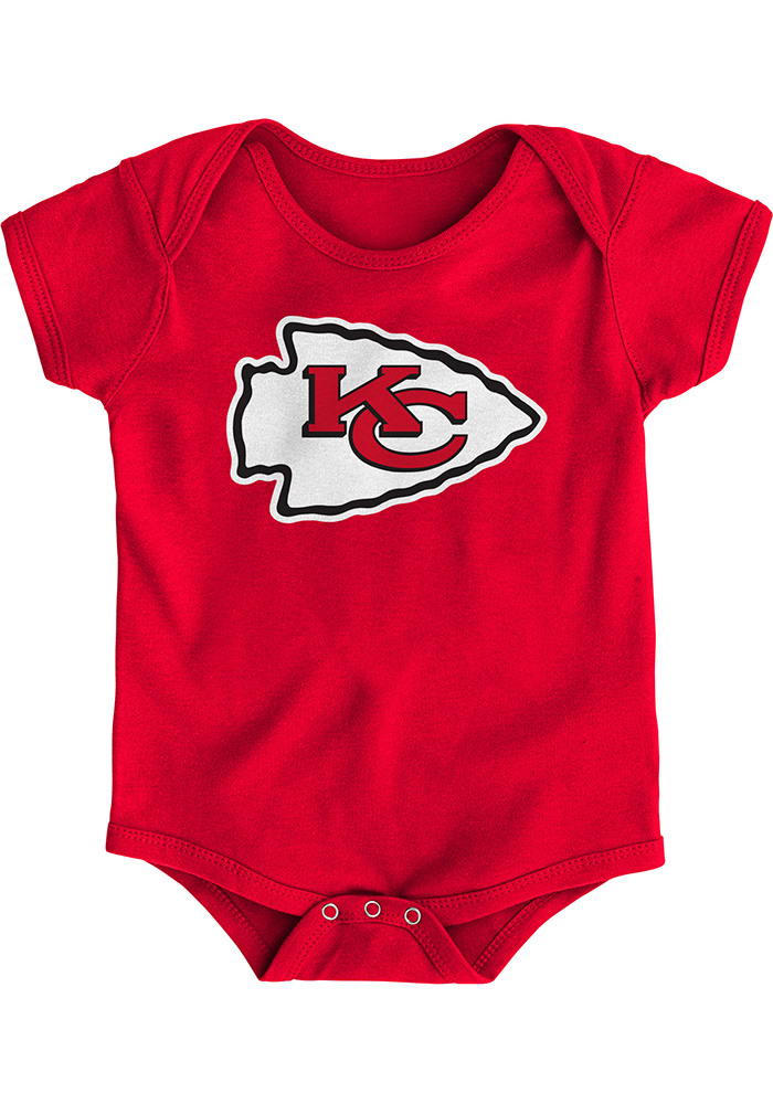 Kansas City Chiefs Baby Red Primary Short Sleeve One Piece - Image 1
