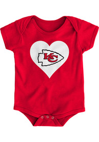 Kansas City Chiefs Baby Red Heart One Piece