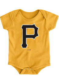 Pittsburgh Pirates Baby Gold Primary One Piece