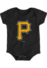 Pittsburgh Pirates Baby Black Primary One Piece