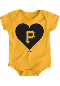 Pittsburgh Pirates Baby Gold Heart One Piece