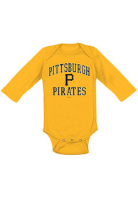 Pittsburgh Pirates Baby Gold #1 Design One Piece