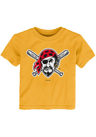 Pittsburgh Pirates Toddler Gold Secondary T-Shirt