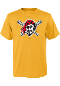 Pittsburgh Pirates Youth Gold Secondary T-Shirt