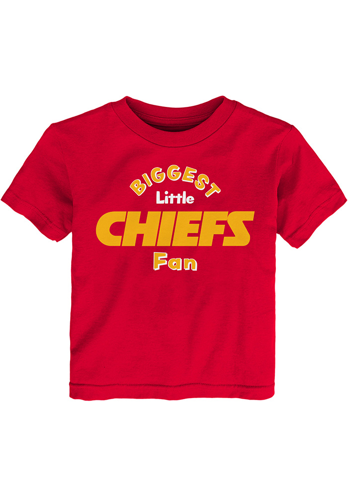 Kansas City Chiefs Toddler Red Biggest Little Fan Short Sleeve T-Shirt - Image 1