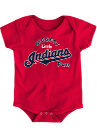 Cleveland Indians Baby Red Biggest Little Fan One Piece