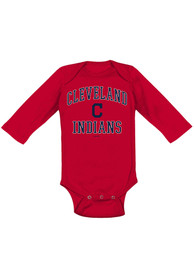 Cleveland Indians Baby Red #1 Design One Piece