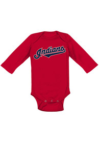 Cleveland Indians Baby Red Road Wordmark One Piece