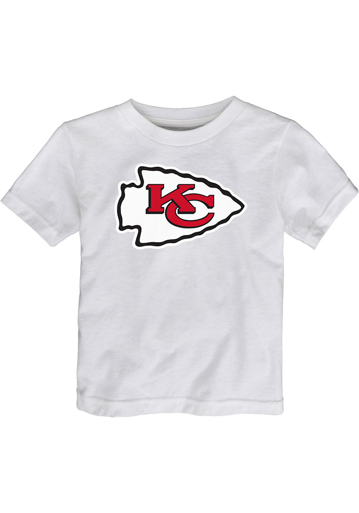 Kansas City Chiefs Toddler White Primary Short Sleeve T-Shirt - Image 1