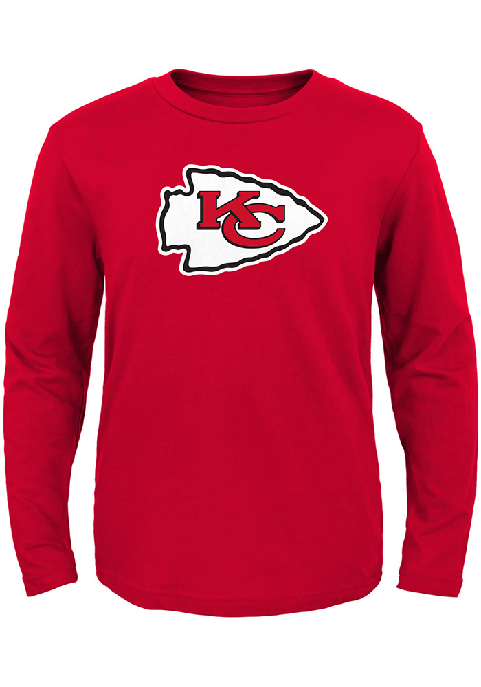 Kansas City Chiefs Toddler Red Primary Long Sleeve T-Shirt - Image 1