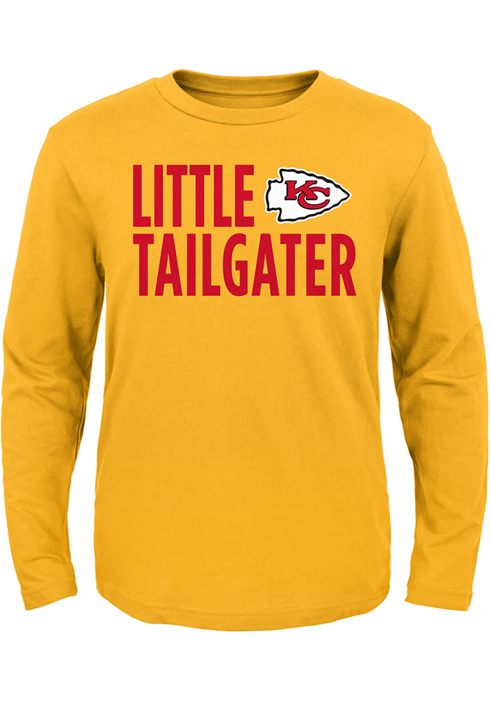 Kansas City Chiefs Toddler Gold Little Tailgater Long Sleeve T-Shirt - Image 1