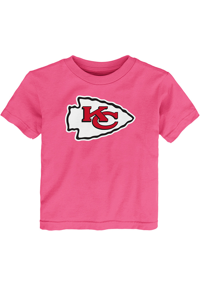 Kansas City Chiefs Toddler Girls Pink Primary Short Sleeve T-Shirt - Image 1