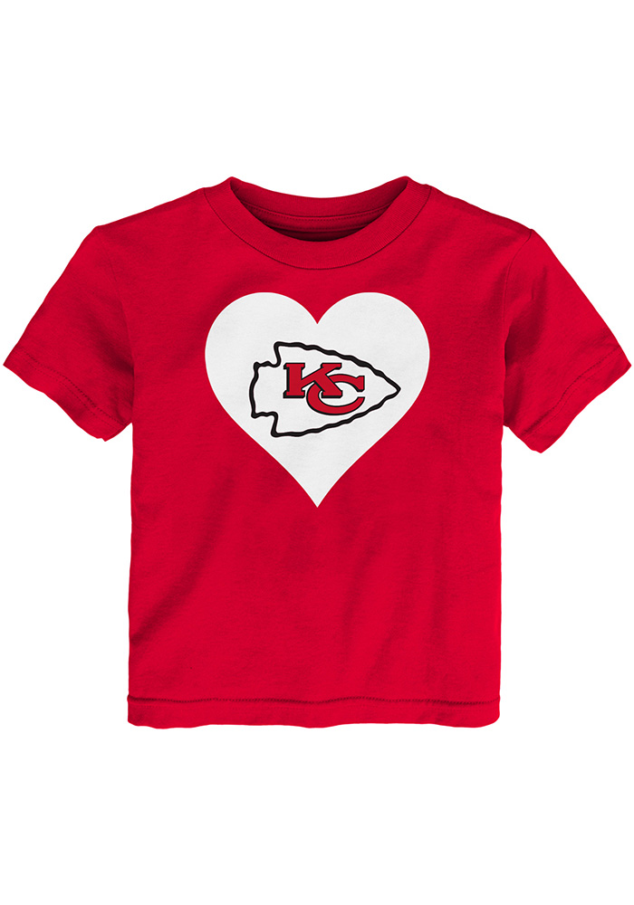 Kansas City Chiefs Toddler Girls Red Heart Short Sleeve T-Shirt - Image 1