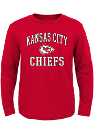 Kansas City Chiefs Boys Red #1 Design T-Shirt