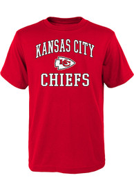 Kansas City Chiefs Youth Red #1 Design T-Shirt
