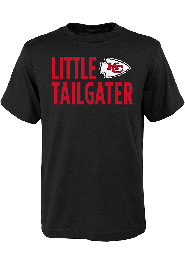 Kansas City Chiefs Youth Black Little Tailgater Short Sleeve T-Shirt - Image 1