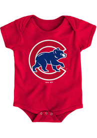 Chicago Cubs Baby Red Secondary One Piece