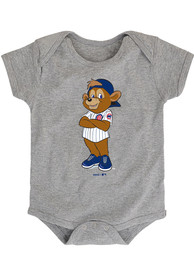 Chicago Cubs Baby Grey Baby Mascot One Piece