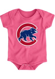 Chicago Cubs Baby Pink Secondary One Piece