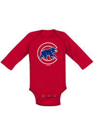Chicago Cubs Baby Secondary One Piece - Red