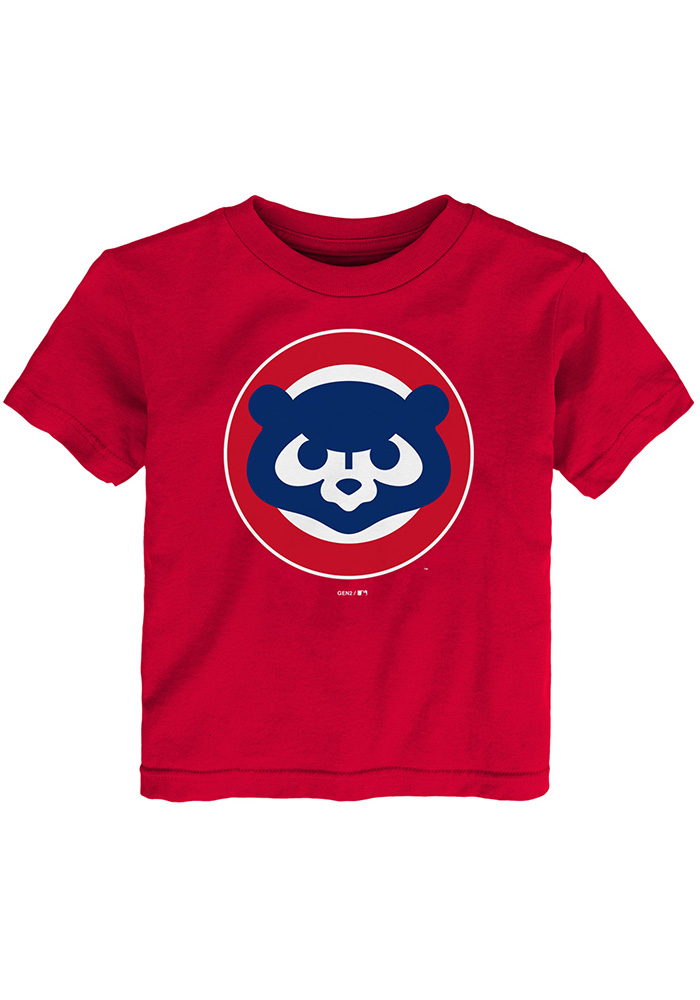 Chicago Cubs Toddler Red Cooperstown Short Sleeve T-Shirt - Image 1
