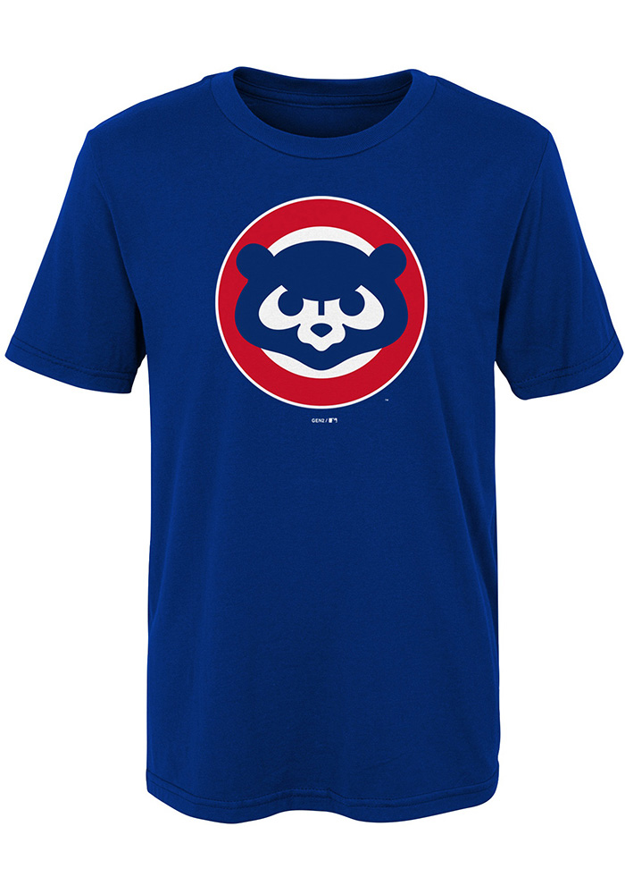Chicago Cubs Boys Blue Cooperstown Short Sleeve T-Shirt - Image 1