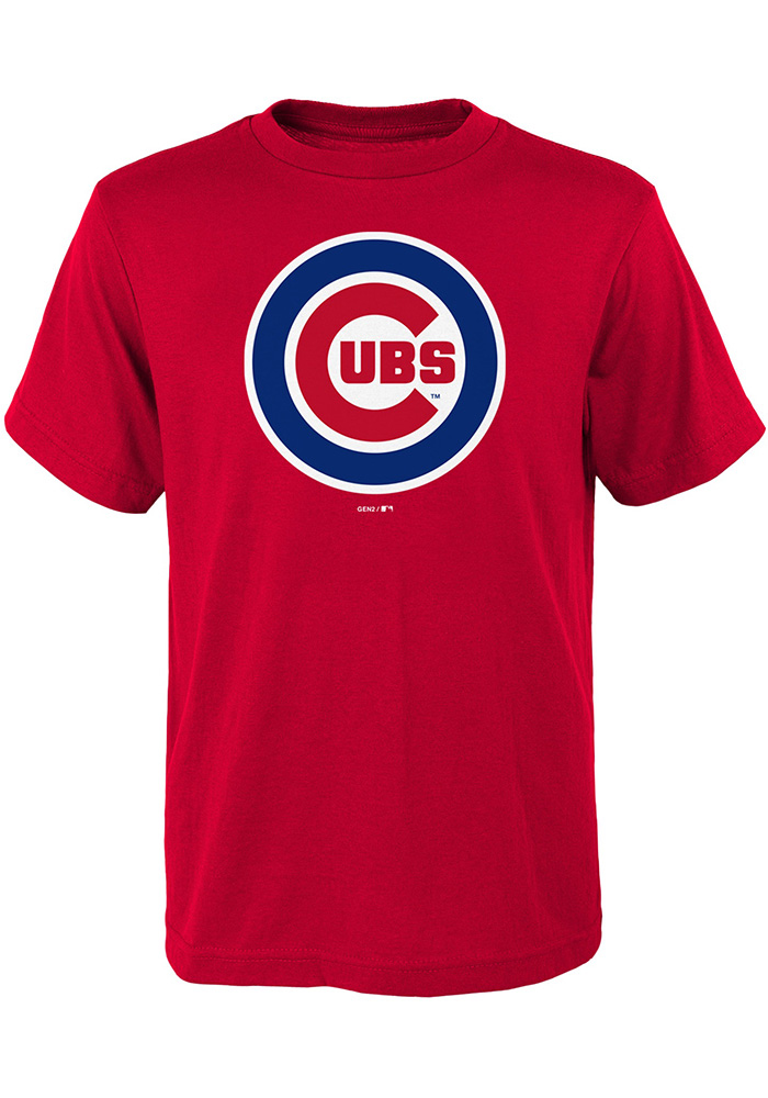 Chicago Cubs Youth Red Primary T-Shirt