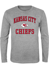 Kansas City Chiefs Youth Grey #1 Design T-Shirt